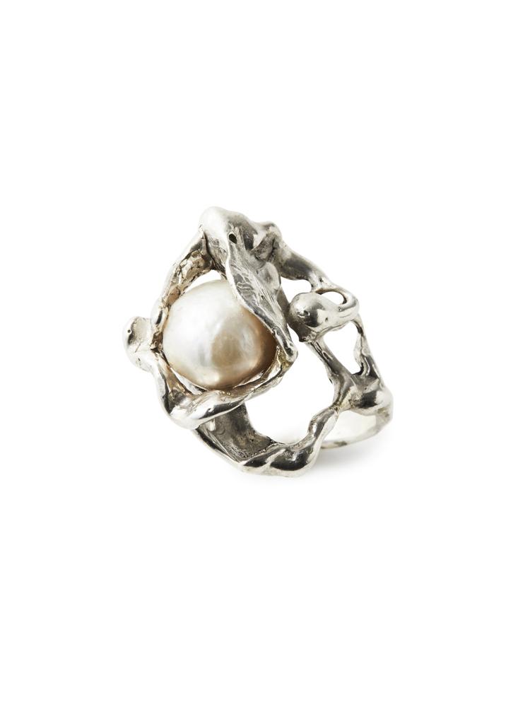 Joanne Burke</br>Lava Pearl Ring #11